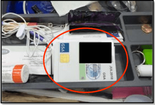 An active HSPD-12 PIV card was found in an unsecured drawer during the inspection. (Credit: GSA OIG)