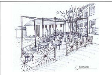dining waterfront market sketch casual alexandria outside area open bring marina later town which