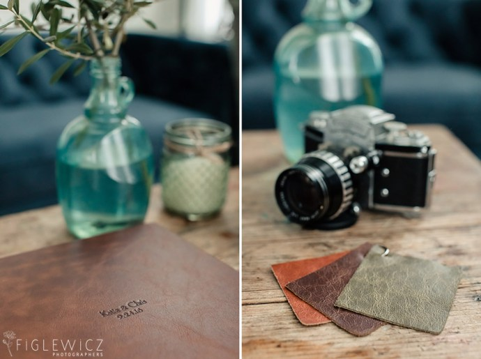 Figlewicz Photography Leather Wedding Album with color choices
