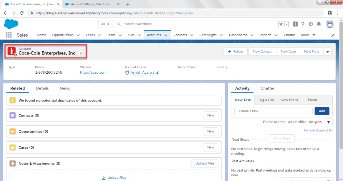 Accounts Logo in Salesforce