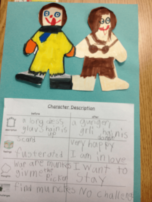 small resolution of Kindergarten Lesson Characters Change! - Looking at Pictures