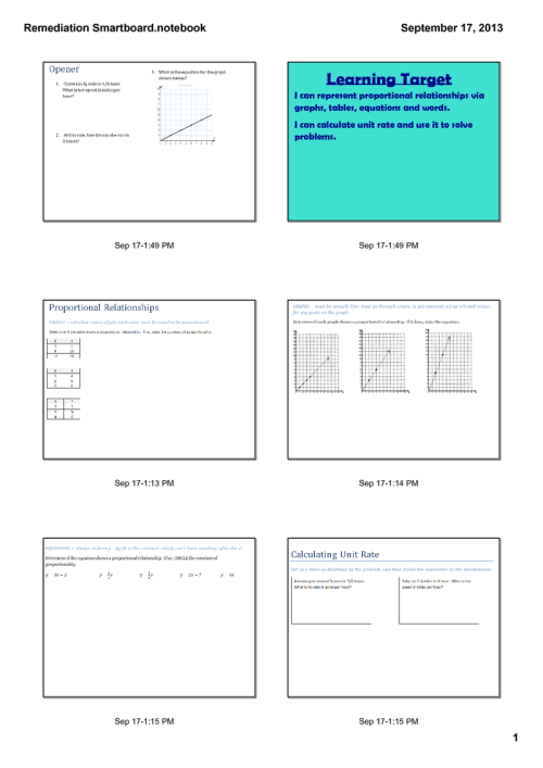 small resolution of Seventh grade Lesson Proportional Reasoning Remediation/Enrichment