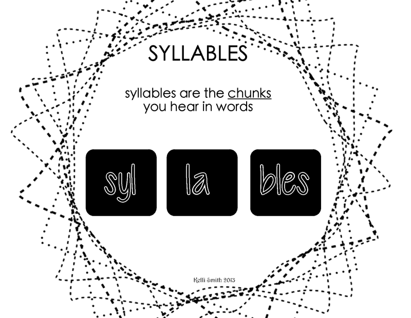 Kindergarten Lesson Syllable Segmenting and Blending