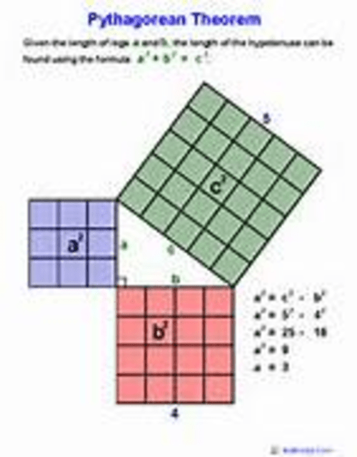 small resolution of Eighth grade Lesson Using the Pythagorean Theorem to Solve by Diagram
