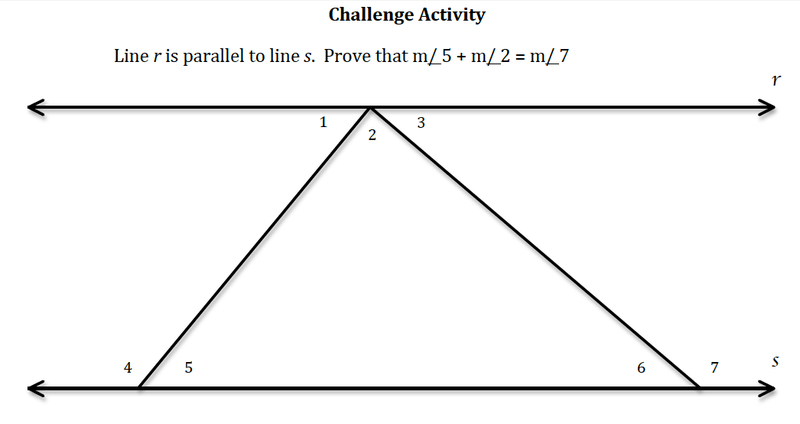 Eighth grade Lesson Parallel Lines Challenge Problem