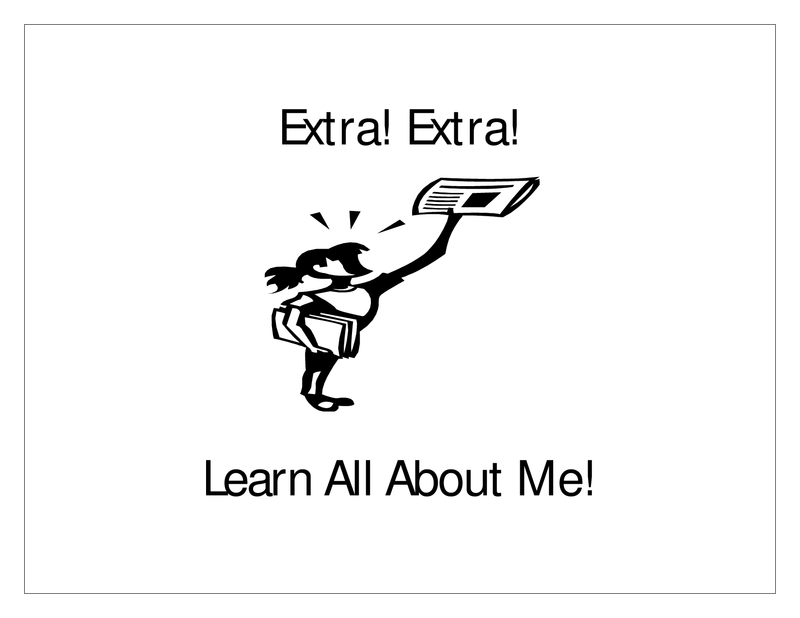 Third grade Lesson Extra! Extra! Learn All About Me