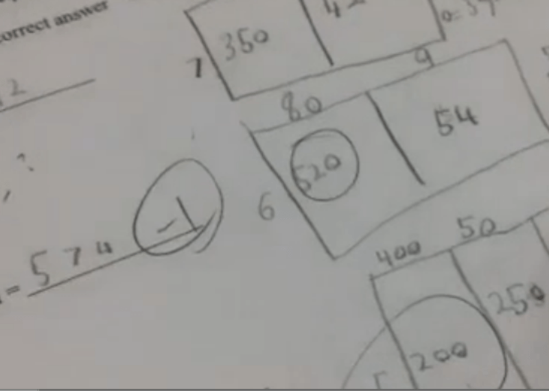 Fourth grade Lesson Quiz 1 in Multiplication: Area Model