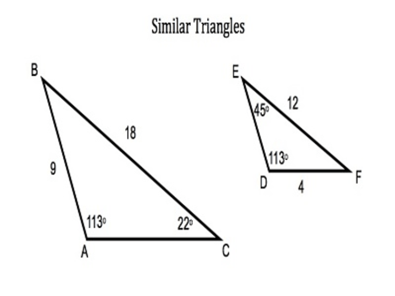 Tenth grade Lesson Finding Missing Sides of Similar Triangles