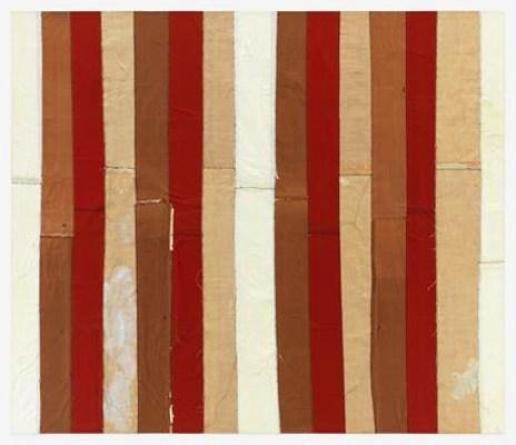 Samuel Levi Jones Quilt of Reality, 2019 Portefeuilles imprimés déconstruits sur toile 60 x 70 pouces (152,4 x 177,8 cm) Encadré: 61,38 x 71,38 x 3,5 pouces (155,9 x 181,3 x 8,9 cm) GL13366