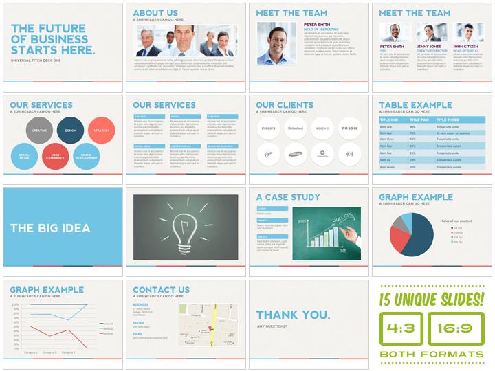Universal Pitch Deck One Powerpoint  Presentation