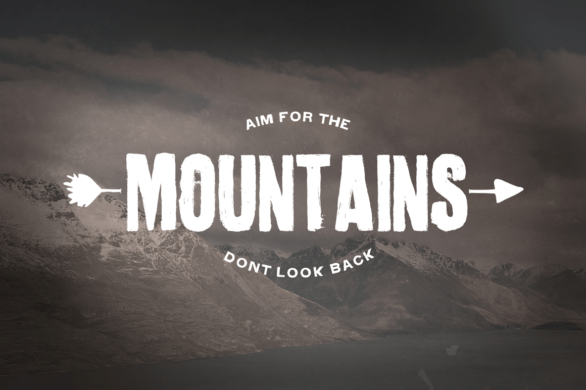 4 Hand Drawn Wilderness Quotes  Graphics on Creative Market