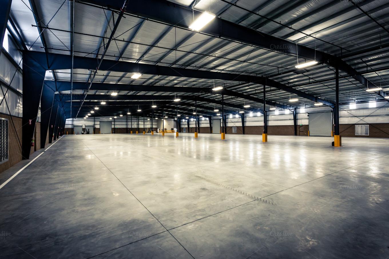 Large Empty Warehouse  Industrial Photos on Creative Market
