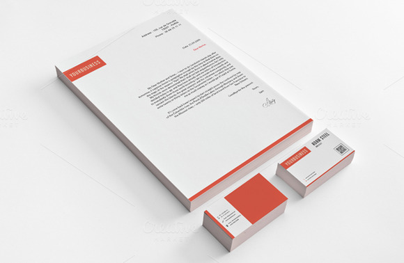Simple Stationery Design Template Stationery Templates