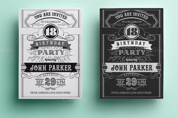 photoshop birthday card template