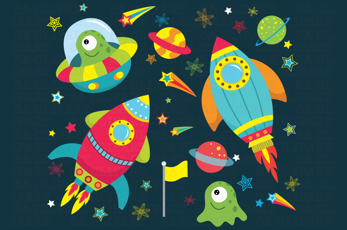 outer space clipart illustrations