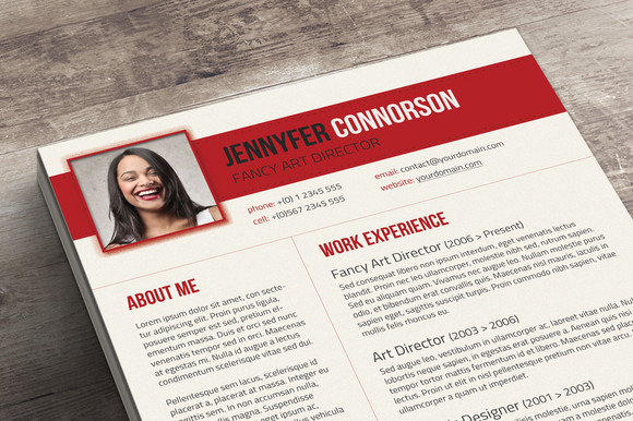 Fancy Resume  Cover Letter  Resume Templates on Creative Market