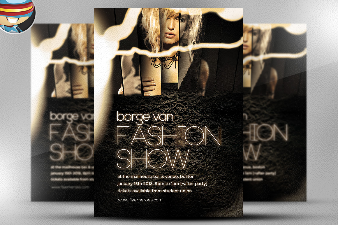 Fashion Show Flyer Template Flyer Templates On Creative