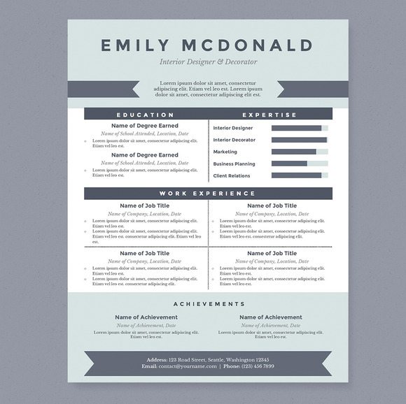resumes that get noticed templates