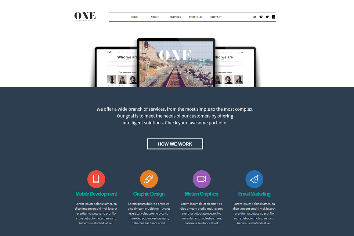 50 One Adobe Muse Theme Website Templates On Creative Market