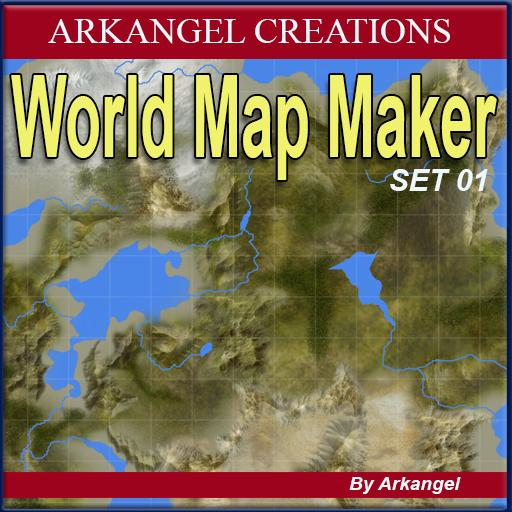 world map maker set