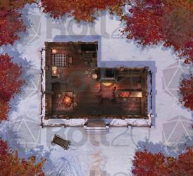Tavern and Cabins Encounter Map Roll20 Marketplace: Digital goods for online tabletop gaming