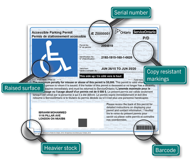 ministry of transportation ontario disabled parking application form
