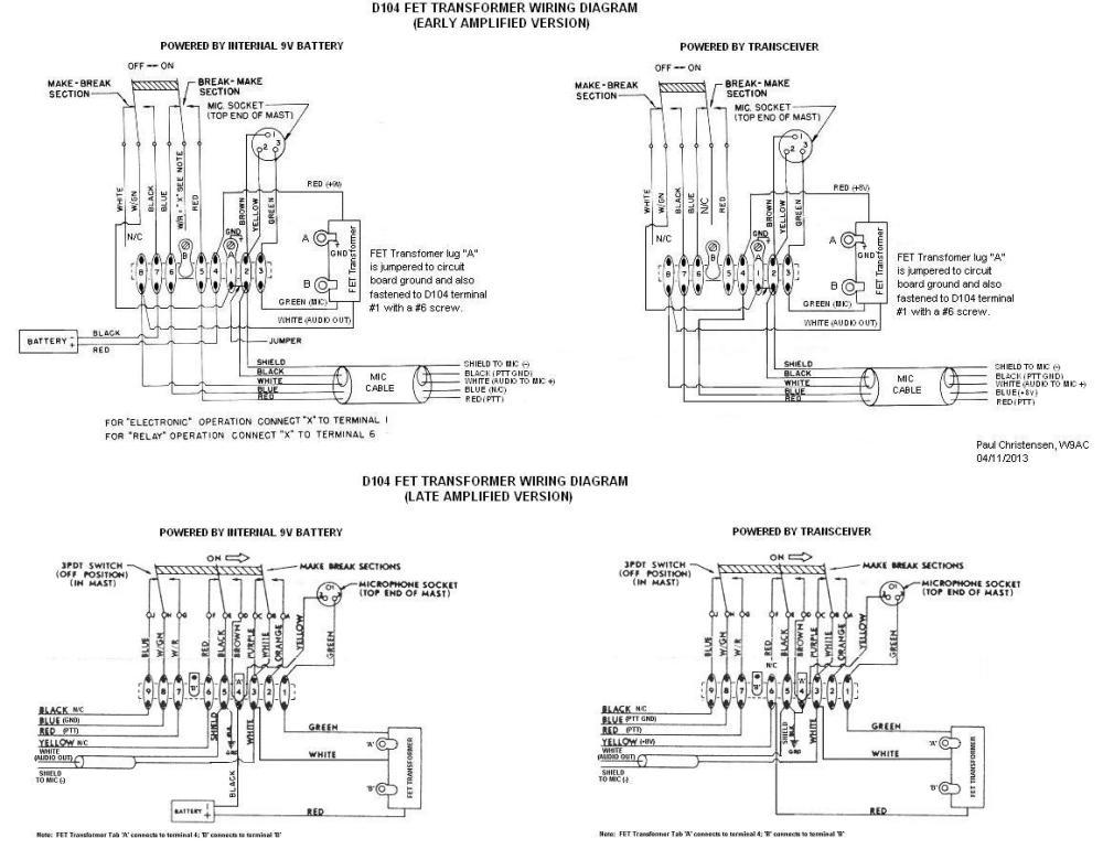 medium resolution of d104 mic wiring diagram wiring diagram detailed cb mic wiring diagrams astatic d 104 wiring diagrams
