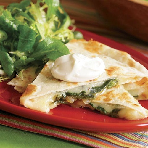 Quesadillas with Roasted Poblanos  Onions Rajas