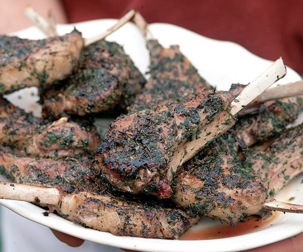 Grilled Rosemary Lamb Chops Recipe Epicurious Com