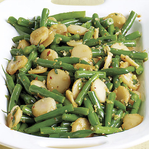 Sauted Green Beans with Water Chestnuts and Ginger