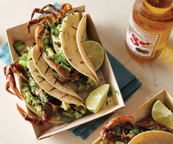 Grilled Soft Shell Crab Tacos Recipe Finecooking