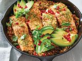 Skillet Roasted Salmon With Avocado Pomegranate And