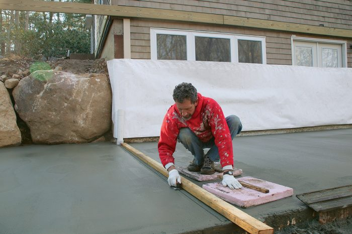 tips for pouring a concrete patio