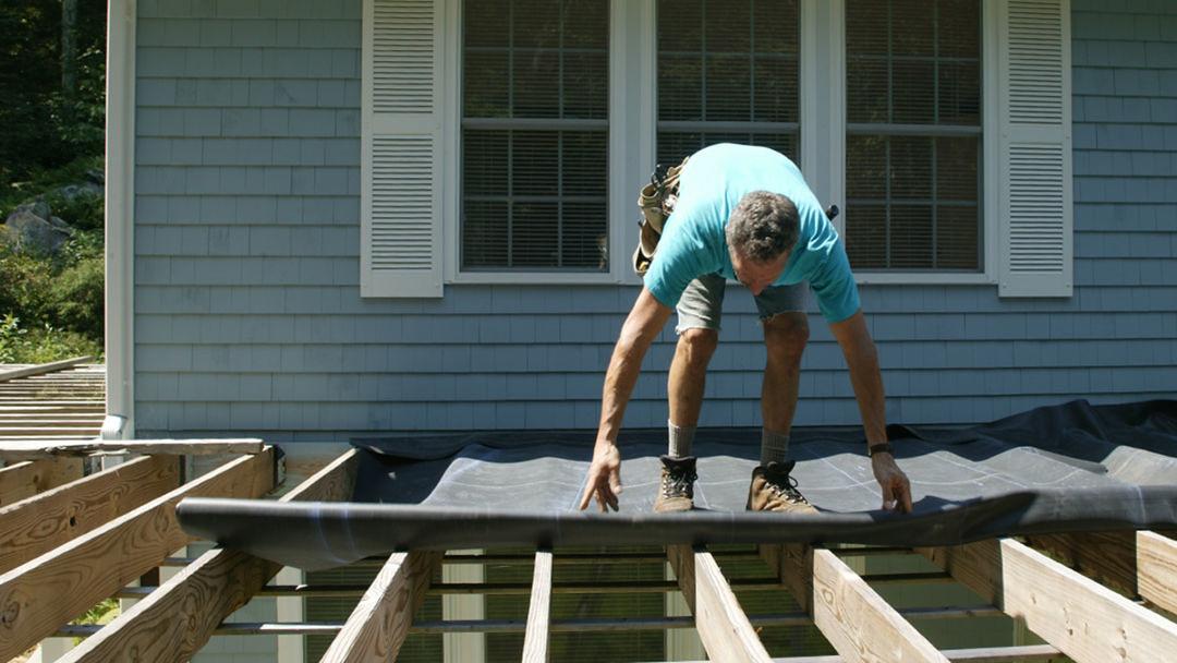 site built deck drainage fine