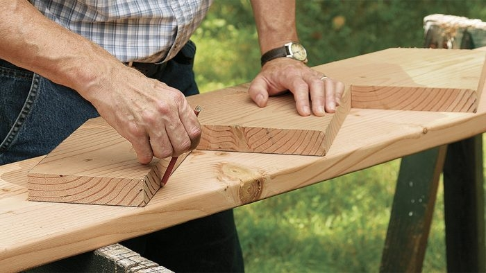 Laying Out Basic Stair Stringers Fine Homebuilding | 2 Step Outdoor Stairs | Landing | Exterior | Redwood Deck | Cantilever Deck | 8 Foot