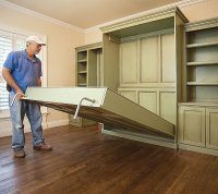 Build a Fold-Down Bed and Get Two Rooms From One - Fine ...