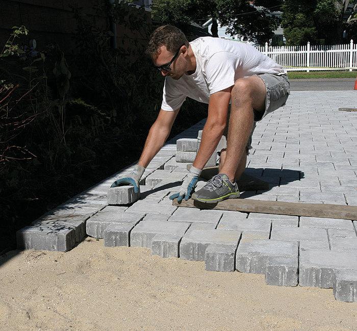 Laying Concrete Pavers  Fine Homebuilding
