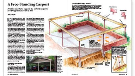 A Free Standing Carport Fine Homebuilding