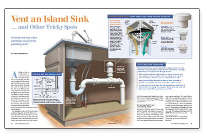 Vent An Island Sinkand Other Tricky Spots Fine
