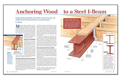 Attaching Wood To Metal Beam