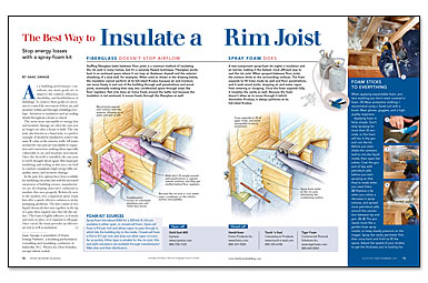 The Best Way To Insulate A Rim Joist  Fine Homebuilding