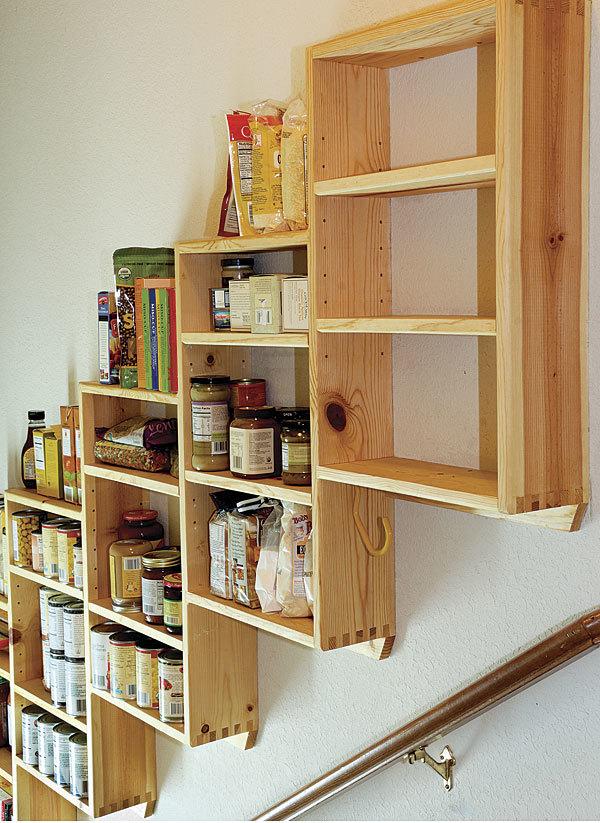 kitchen inventory app copper backsplash ideas stairwell storage space, part 2 - fine homebuilding