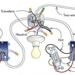 3 Way Switch Diagram Multiple Lights 150 Watt Hps Wiring Add To An Existing Three-way Circuit - Fine Homebuilding