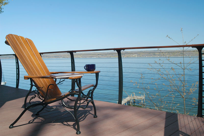 chair rail pros and cons kids anywhere chairs manufactured deck railings look good but do they last fine cable
