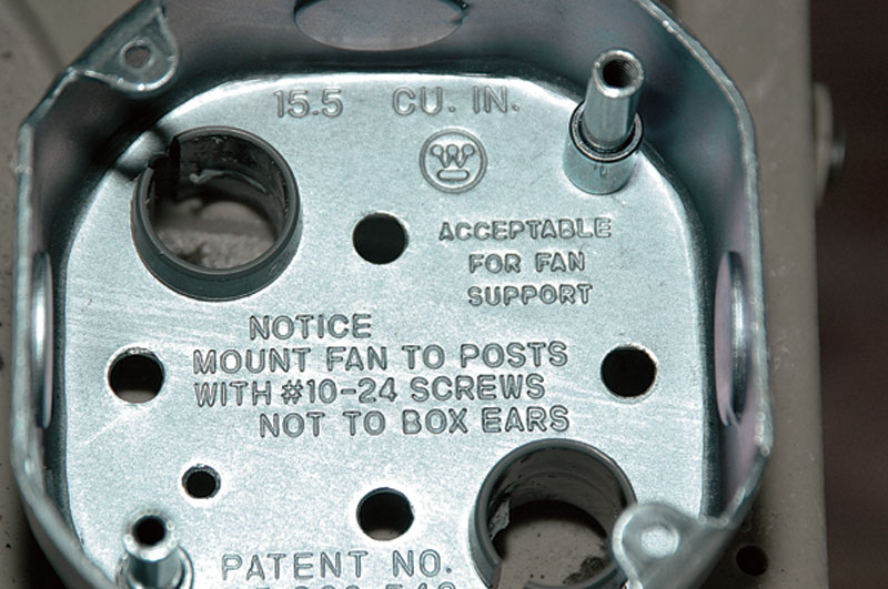 How to Retrofit a Ceiling Fan Electrical Box