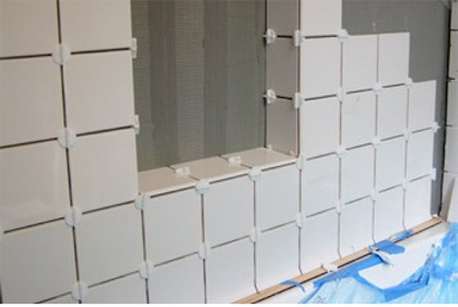 set tile without mastic or thinset