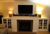 Craftsman Fireplace with built-in media cabinets - Fine ...