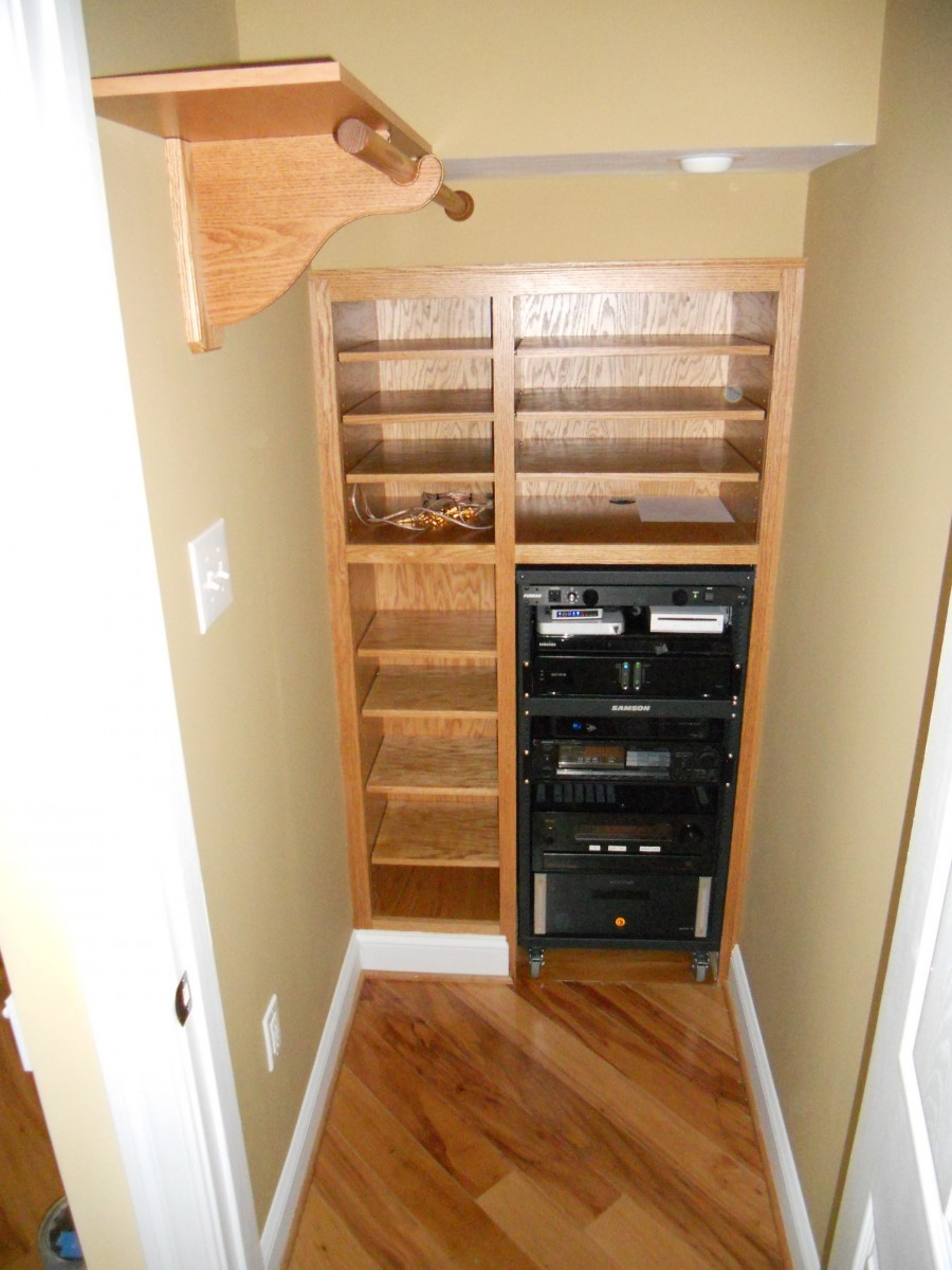 sweet closet storage under stairs