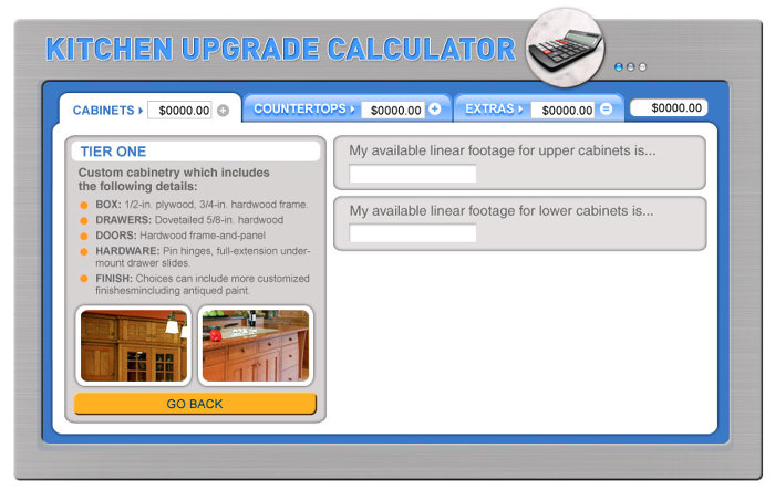 kitchen calculator bronze pendant lighting update upgrade fine homebuilding the makes it easy to try different options keep from going over budget now