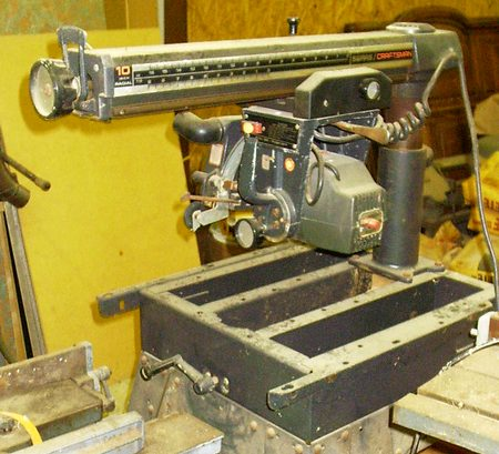 Drum Sander Attachment For Radial Arm Saw